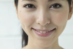 Beautiful Japanese woman smiling